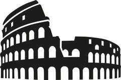 Silhouette de Colosseum Rome illustration de vecteur