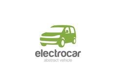 Silhouette de conception de logo de la livraison de Van car Photo stock