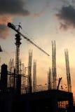 Silhouette de construction Photographie stock libre de droits