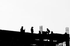 Silhouette de construction Images libres de droits