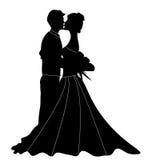 Silhouette de couples Image libre de droits