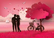 Silhouette de couples Images libres de droits