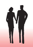 Silhouette de couples Photos libres de droits