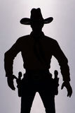 Silhouette de cowboy Image stock