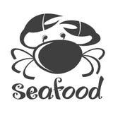 Silhouette de crabe Photographie stock libre de droits
