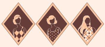Silhouette de cru de fille. Image libre de droits