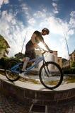 Silhouette de curseur de vélo image libre de droits