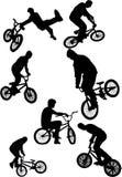 silhouette de curseurs de bmx Photo stock