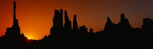 Silhouette de désert de l'Arizona Photos stock