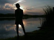 Silhouette de désir ardent Photographie stock libre de droits