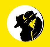 Silhouette de détective Photos libres de droits