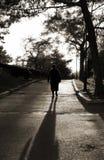Silhouette de dame âgée Image libre de droits