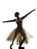 Silhouette de danse de danseur classique de ballerine de femme photographie stock libre de droits