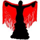 Silhouette de danseur de flamenco Photos libres de droits