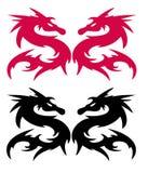 Silhouette de dragon Photos libres de droits