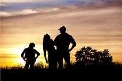 Silhouette de famille Images libres de droits