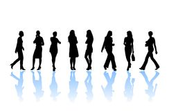 Silhouette de femme Photo stock