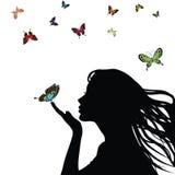 Silhouette de femme Image libre de droits