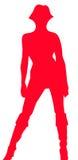 Silhouette de femme illustration libre de droits