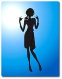 Silhouette de femme de culbuteur Image stock