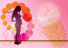 Silhouette de femme enceinte Image libre de droits
