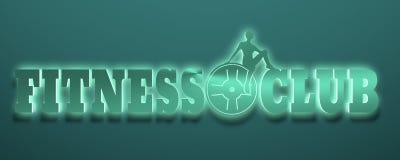 Silhouette de femme sur le texte de centre de fitness Photos libres de droits