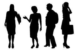 Silhouette de femmes de vecteur Image libre de droits