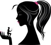 Silhouette de fille  illustration stock