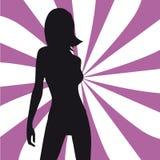 silhouette de fille de mode Photographie stock libre de droits