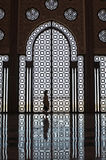 silhouette de fille de mosquée Images stock
