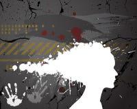 Silhouette de fille effectuée à partir des éclaboussures Images libres de droits