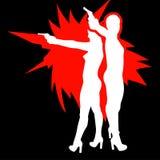 Silhouette de fille de tir Image libre de droits