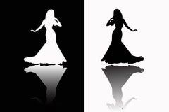 Silhouette de filles Photo libre de droits