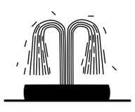 Silhouette de fontaine Photographie stock libre de droits