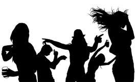 Silhouette de foule de danse Image libre de droits