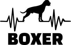 Silhouette de fréquence de boxeur illustration libre de droits