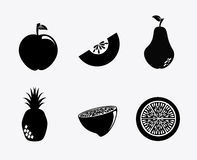 Silhouette de fruit Photo libre de droits