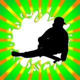 Silhouette de garçon de patin Photographie stock libre de droits