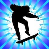 Silhouette de garçon de patin illustration stock