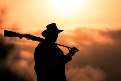 Silhouette de garde forestière Images stock