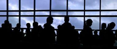 Silhouette de gens Photo libre de droits