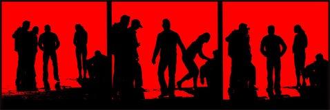 Silhouette de gens illustration de vecteur