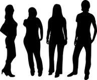 Silhouette de gens de vecteur Images libres de droits
