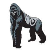 Silhouette de gorille Photo libre de droits