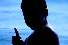 Silhouette de gosses photos libres de droits