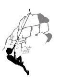 Silhouette de grimpeur illustration stock