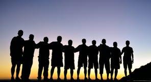 Silhouette de groupe Photo libre de droits