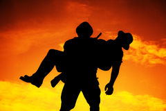 Silhouette de guerrier Image libre de droits