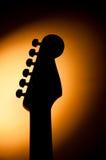 Silhouette de guitare électrique Photographie stock libre de droits