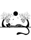 Silhouette de Halloween Images stock